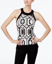 Inc International Concepts Printed Halter Top Only At Macy's Silver