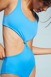 Anthropologie Solid And Striped Bailey One Piece Blue