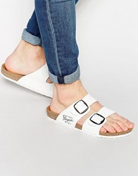Original Penguin Slip On Sandals White