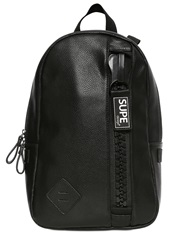 Supe Design Faux Leather Backpack Black