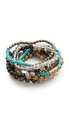 Lacey Ryan Embrace Bracelet Set Gold Turquoise