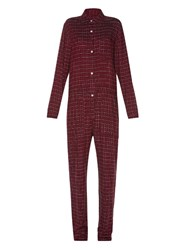 Isabel Marant Toile Peters Long Sleeved Checked Jumpsuit