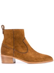 Veronica Beard Ankle Boots Brown