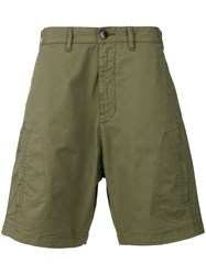 Stone Island Shadow Project Classic Chino Shorts Green