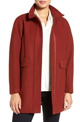 Vince Camuto Women's Wool Blend Coat Rust
