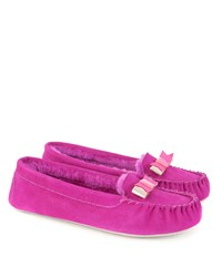 Ted Baker Sarsone Bow Detail Moccasin Slippers Pink