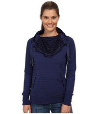 Smartwool Hanging Lake Pullover Ink Women's Long Sleeve Pullover Navy
