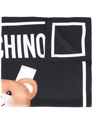 Moschino Bear Print Scarf Black