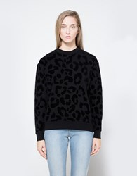 Etre Cecile Leopard Bf Sweat Black