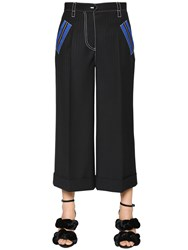 Marco De Vincenzo Pinstriped Cool Wool Cropped Pants