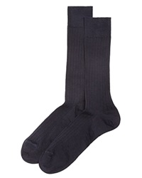 The Men's Store At Bloomingdale's Ribbed Dress Socks Navy