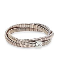 Diane Von Furstenberg Love Is Life Spokes Coiled Wrap Bracelet Silver