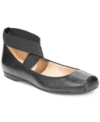 Jessica Simpson Mandalaye Elastic Ballet Flats Women's Shoes Black