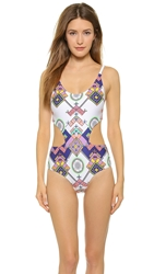 6 Shore Road By Pooja Maya One Piece White Aztec