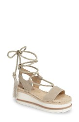 Marc Fisher Women's Ltd Gerald Platform Sandal Tan Suede