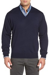 Men's Peter Millar Merino Wool V Neck Sweater