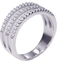 Carat Gunner Sterling Silver And Diamond Ring