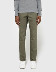 Norse Projects Aros Heavy Chino In Olive Dried Olive