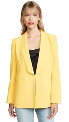 Alice Olivia Skye Over Shoulder Sexy Boyfriend Blazer Golden Rod