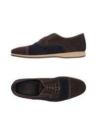 Canali Lace Up Shoes Dark Brown