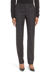 Boss Women's Titana Check Stretch Wool Blend Trousers