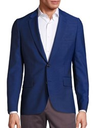 Paul Smith Soho Slim Fit Knitted Wool Blazer Hi Blue