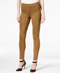 Styleandco. Style Co. Seamfront Ponte Leggings Only At Macy's Tobacco