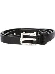 Diesel Studded Skinny Belt Black
