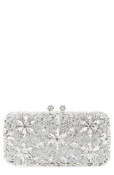 Natasha Couture Crystal Flower Clutch