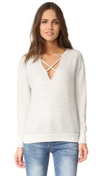 Lna Crossed Over Sweatshirt Heather Grey