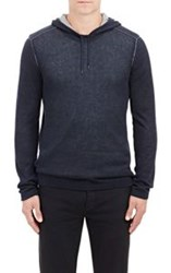 John Varvatos Star U.S.A. Layered Stockinette Stitched Sweater Colorle Colorless