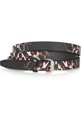 Mcq By Alexander Mcqueen Printed Faux Textured Leather Belt