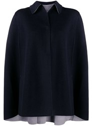 N.Peal Cashmere Reversible Cape 60