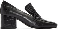 Dorateymur Black Python Embossed Turbojet Heels