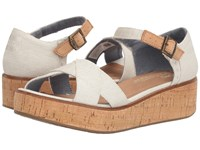 Toms Harper Wedge Natural Yarn Dye Women's Wedge Shoes Gray