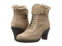 Aerosoles Rufflection Taupe Suede Women's Lace Up Boots