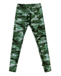 Terez Glitter Camo Leggings Green