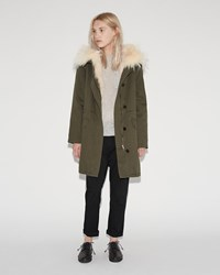Army By Yves Salomon Fox Lined Parka Trellis