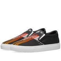 Marcelo Burlon Wings Barcode Slip On Black