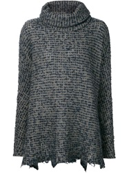 Forme D'expression Roll Neck Loose Sweater Grey