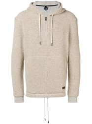 Woolrich Zipped Hoodie Nude And Neutrals