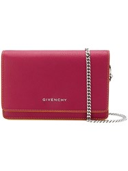 Givenchy Envelope Chain Wallet Pink And Purple