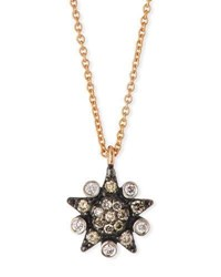 Kismet By Milka Eclectic White And Champagne Diamond Star Necklace