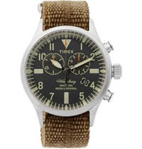 Timex Waterbury Stainless Steel And Webbing Watch Brown