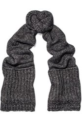 Sandro Knitted Scarf Charcoal