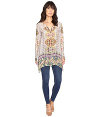 Johnny Was Tempo Flair Blouse Multi A Women's Blouse Blue