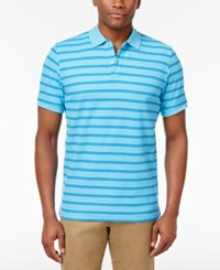 Club Room Men's Striped Polo Only At Macy's Clear Skies