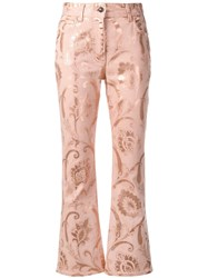 Etro Floral Print Jeans Pink