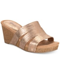 Styleandco. Style Co Juliaa Slip On Platform Wedge Sandals Rose Gold