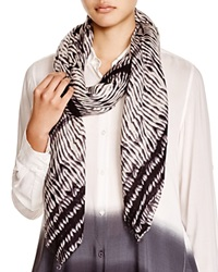 Dkny Pure Striped Wool Scarf